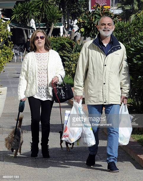 Pepa Flores 'Marisol' and her boyfriend Maximo Stecchiny are seen on January 9, 2014 in Malaga, Spain.