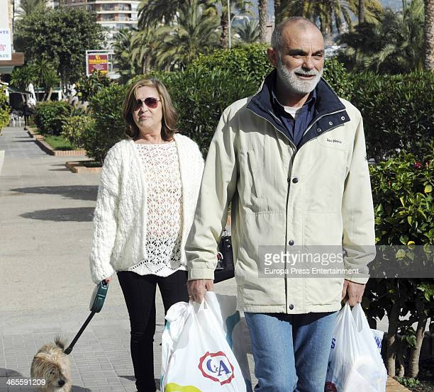 Pepa Flores 'Marisol' and her boyfriend Maximo Stecchiny are seen on January 9 2014 in Malaga Spain