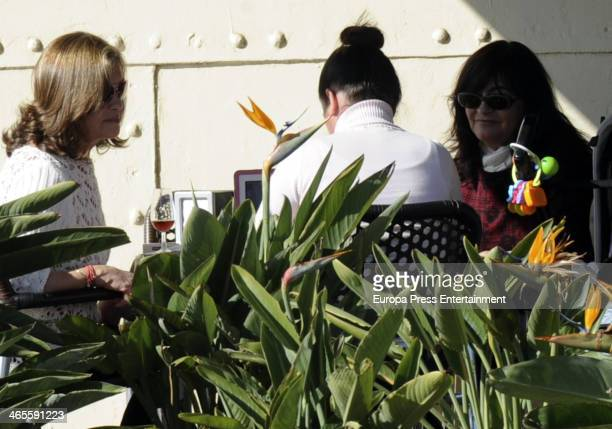 Pepa Flores 'Marisol' and her daughter Tamara Gades are seen on January 9, 2014 in Malaga, Spain.