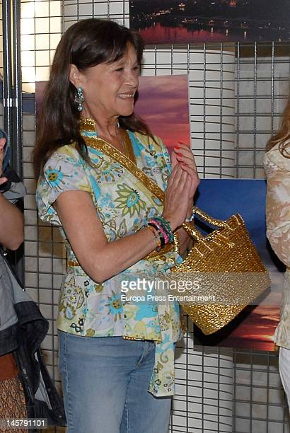 Pepa Flores 'Marisol' attends her daughter Maria Esteve's picture exhibition 'De Malaga Al Cielo' on May 16 2012 in Malaga Spain