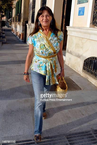 Pepa Flores 'Marisol' attends her daughter Maria Esteve's picture exhibition 'De Malaga Al Cielo' on May 16, 2012 in Malaga, Spain.
