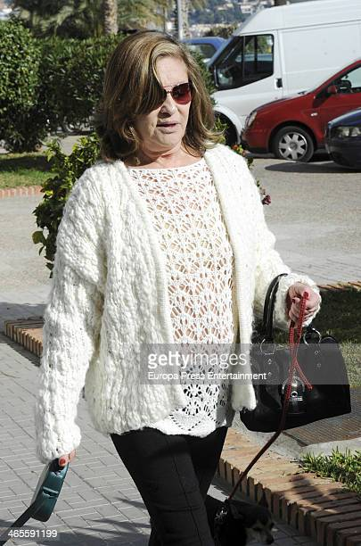 Pepa Flores 'Marisol' is seen on January 9 2014 in Malaga Spain