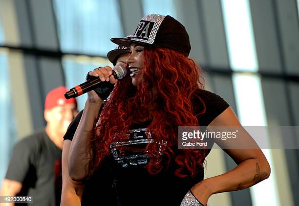 Pepa of SaltNPepa performs onstage at the Tailgate Party during the IEBA 2015 Conference Day 1 on October 11 2015 in Nashville Tennessee