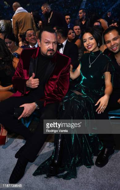 Pepe Aguilar and Angela Aguilar attend the 20th annual Latin GRAMMY Awards at MGM Grand Garden Arena on November 14 2019 in Las Vegas Nevada