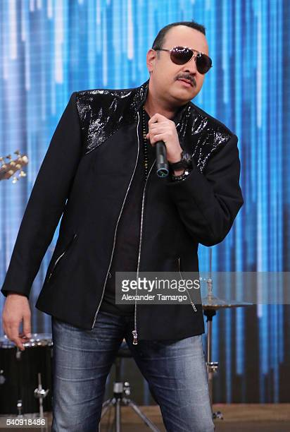 Pepe Aguilar is seen on the set of 'Despierta America' at Univision Studios on June 17 2016 in Miami Florida