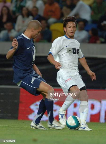 Pepe and Nakata during the 2007 All Stars Lisbon game at Alvalade XXI Stadium, Lisbon, Portugal on June 9, 2007. Some of the best football players of...