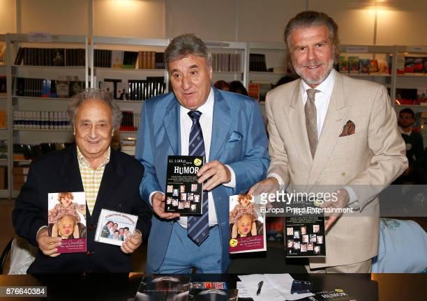 Pepe Caravias Tony Antonio and Bigote Arrocet attend the charity market 'Rastrillo Nuevo Futuro' on November 18 2017 in Madrid Spain