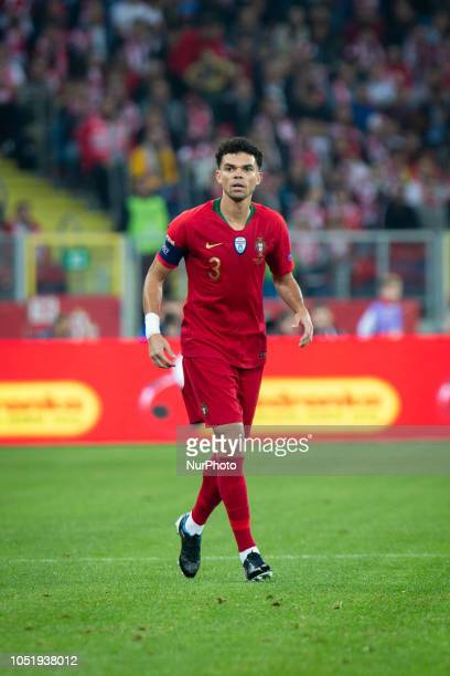 Pepe during the UEFA Nations League A soccer match between Poland and Portugal at Silesian Stadium in Chorzow Poland on 11 October 2018