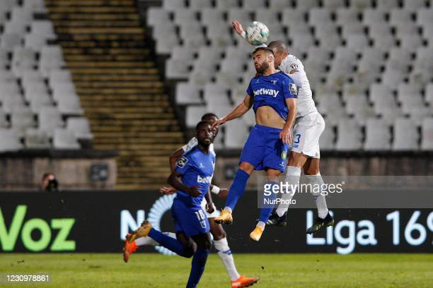 Pepe in air action during the game for Liga NOS between Belenenses SAD and FC Porto, at Estdio Nacional, Lisboa, Portugal February, 2021