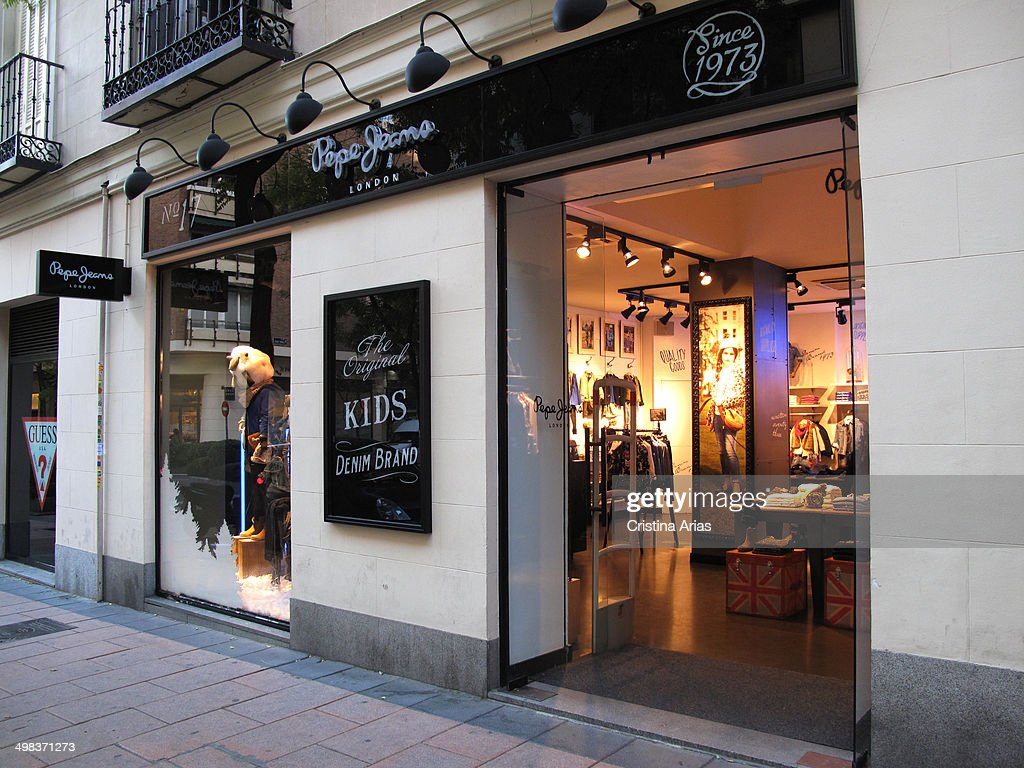 pepe jeans store in hermosilla street in the salamanca district of news photo getty images