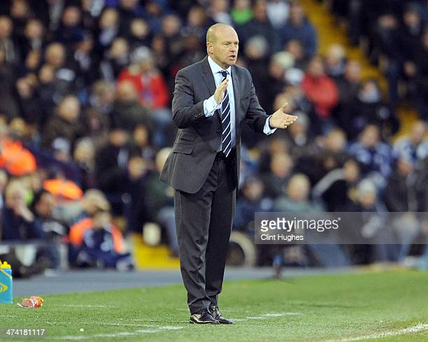 Pepe Mel manager of West Bromwich Albion reacts during the Barclays Premier League match between West Bromwich Albion and Fulham at the Hawthorns on...