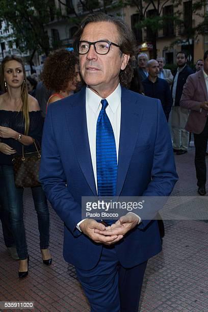Pepe Navarro is seen arriving to 'Nuestros Amantes' premiere at Palafox Cinema on May 30 2016 in Madrid Spain