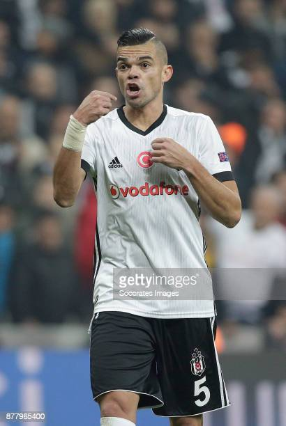 Pepe of Besiktas during the UEFA Champions League match between Besiktas v FC Porto at the Vodafone Park on November 21 2017 in Istanbul Turkey