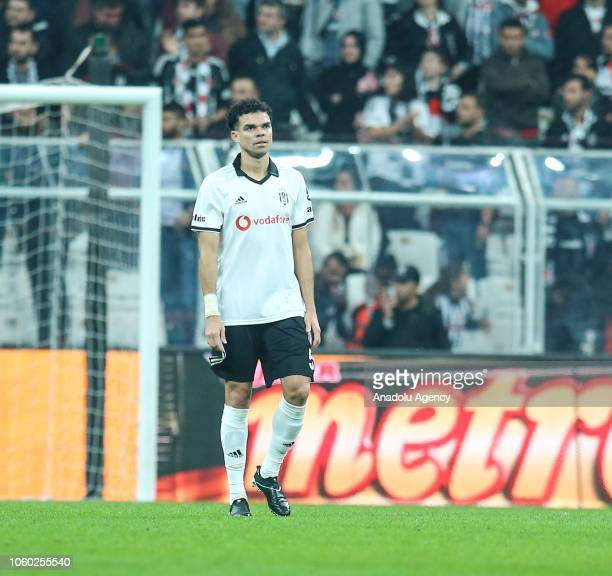 Pepe of Besiktas reacts after Demir Grup Sivasspor's goal during the Turkish Super Lig football match between Besiktas and Demir Grup Sivasspor at...