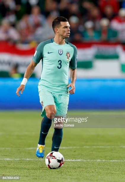 Pepe of Portugal controls the ball during the FIFA 2018 World Cup Qualifier match between Hungary and Portugal at Groupama Arena on September 3 2017...