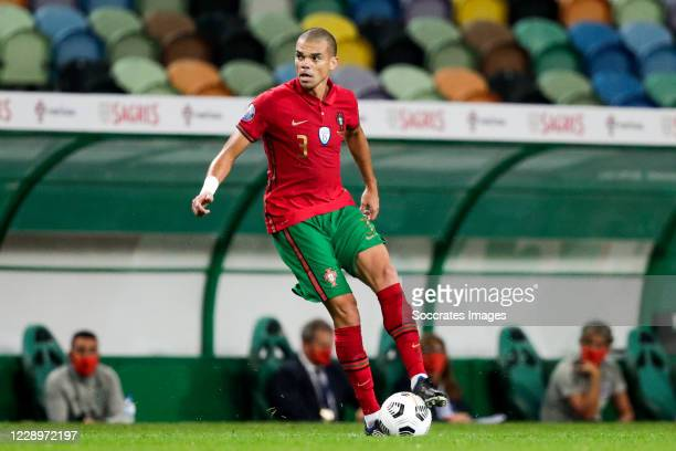 Pepe of Portugal during the International Friendly match between Portugal v Spain at the Jose Alvalade stadium on October 7, 2020 in Lisbon Portugal