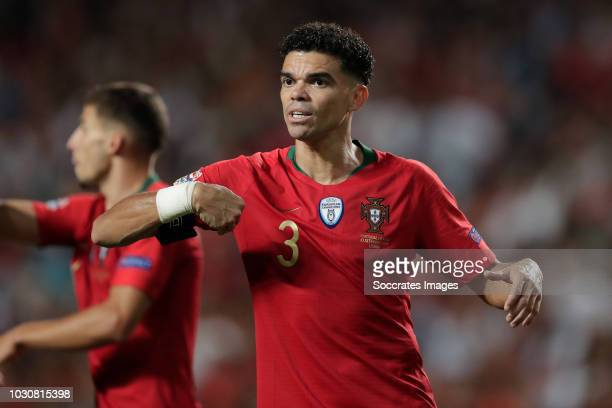 Pepe of Portugal during the UEFA Nations league match between Portugal v Italy at the Jose Alvalade on September 10 2018 in Lisbon Portugal