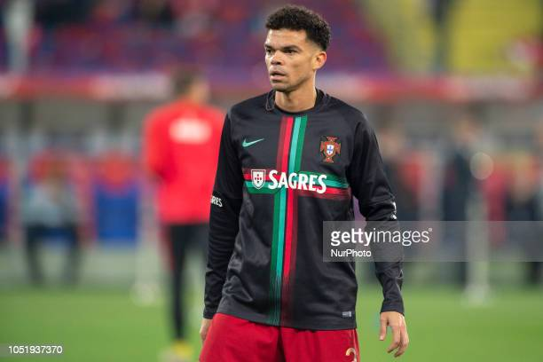 Pepe of Portugal during UEFA Nations League A match between Poland and Portugal at Silesian Stadium in Chorzow Poland on October 11 2018