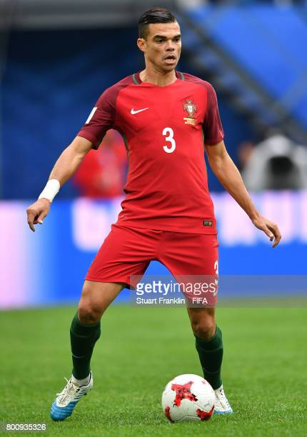 Pepe of Portugal in action during the FIFA Confederation Cup Group A match between New Zealand and Portugal at Saint Petersburg Stadium on June 24...