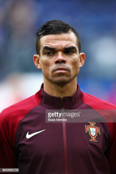 Pepe of Portugal lines up prior to the FIFA Confederations Cup Russia 2017 Group A match between New Zealand and Portugal at Saint Petersburg Stadium...