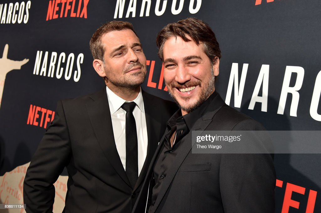 Pepe Rapazote and Alberto Ammann attend the 'Narcos' Season 3 New York Screening at AMC Loews Lincoln Square 13 theater on August 21, 2017 in New York City.