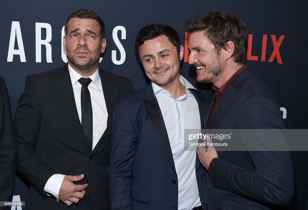 Pepe Rapazote, Arturo Castro and Pedro Pascal attend the 'Narcos' Season 3 New York Screening at AMC Loews Lincoln Square 13 theater on August 21, 2017 in New York City.