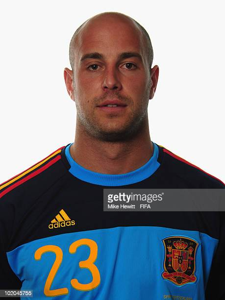 Pepe Reina of Spain poses during the official Fifa World Cup 2010 portrait session on June 13 2010 in Potchefstroom South Africa