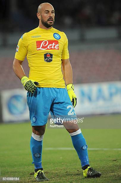 Pepe Reina of SSC Napoli during the italian Serie A football match between SSC Napoli and Juventus FC at San Paolo Stadium on September 26 2015 in...