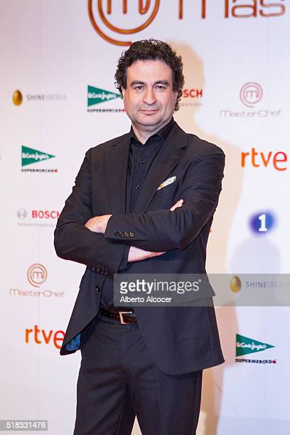 Pepe Rodriguez attends 'Masterchef' Season 4 Presentation on March 31 2016 in Madrid Spain