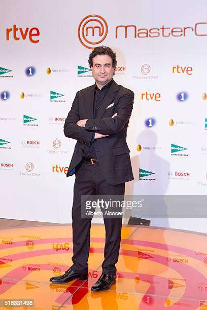 Pepe Rodriguez attends 'Masterchef' Season 4 Presentation on March 31 2016 in Madrid Spain