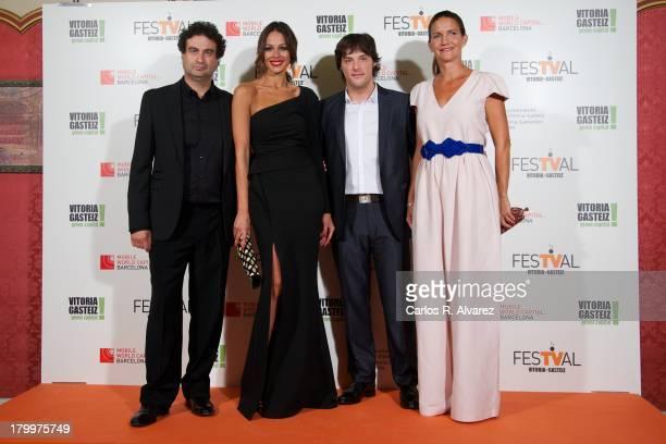 Pepe Rodriguez Spanish model Eva Gonzalez Jordi Cruz and Samantha Vallejo Najera attend the 5th FesTVal Television Festival 2013 closing ceremony at...