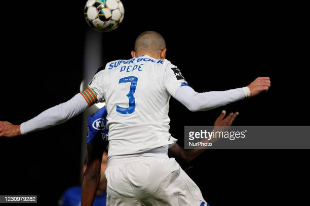 Pepe ruling the heights during the game for Liga NOS between Belenenses SAD and FC Porto, at Estdio Nacional, Lisboa, Portugal February, 2021