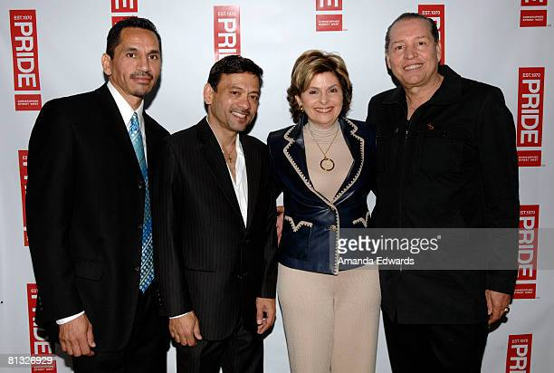 Pepe Torres Al Ballesteros Gloria Allred and Romero Founders attend the Los Angeles LGBT Pride Honorees Brunch on June 1 2008 in Los Angeles...