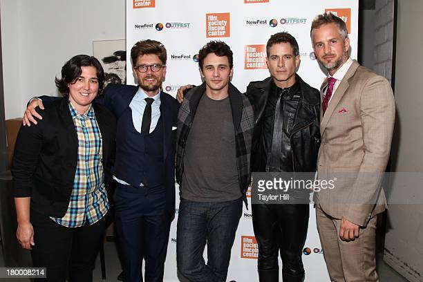 P Pepe Travis Mathews James Franco Christian Patrick and Jay Knowlton attend the NewFest 2013 Screening Of Interior Leather Bar at The Film Society...