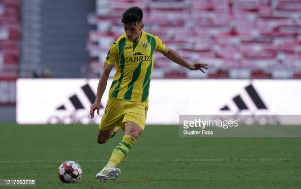 Pepelu of CD Tondela in action during the Liga NOS match between SL Benfica and CD Tondela at Estadio da Luz on June 4 2020 in Lisbon Portugal