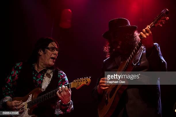 Pepeu Gomes and Moraes Moreira from Novos Baianos performs at Metropolitan on September 2, 2016 in Rio de Janeiro, Brazil.