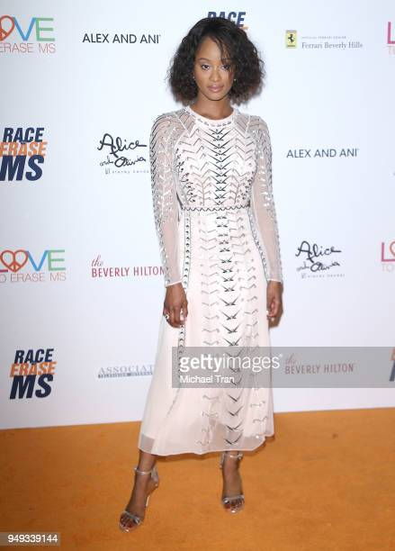 Pepi Sonuga arrives to the 25th Annual Race To Erase MS Gala held at The Beverly Hilton Hotel on April 20 2018 in Beverly Hills California