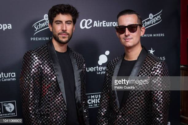 Pepino Marino and Crawford attend the Chicote Awards 2018 at 'Museo Chicote' on September 26 2018 in Madrid Spain