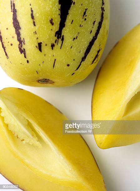 pepino melon, close up - pepino stock pictures, royalty-free photos & images