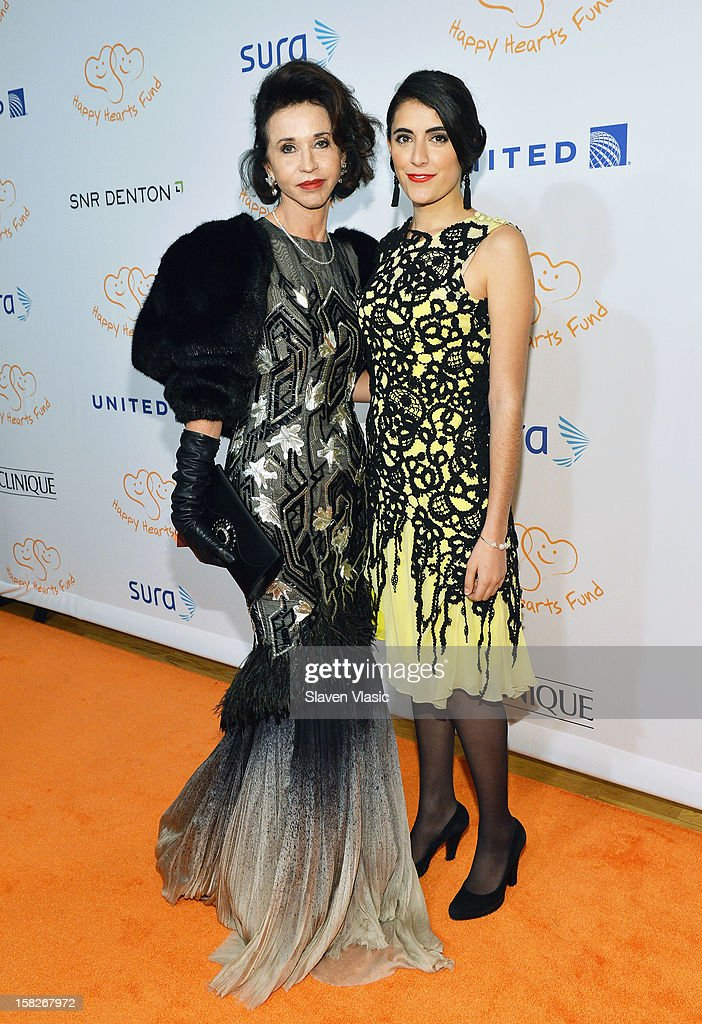 Pepita Serrano (L) and guest attend the 2012 Happy Hearts Fund Land Of Dreams: Mexico Gala at Metropolitan Pavilion on December 11, 2012 in New York City.
