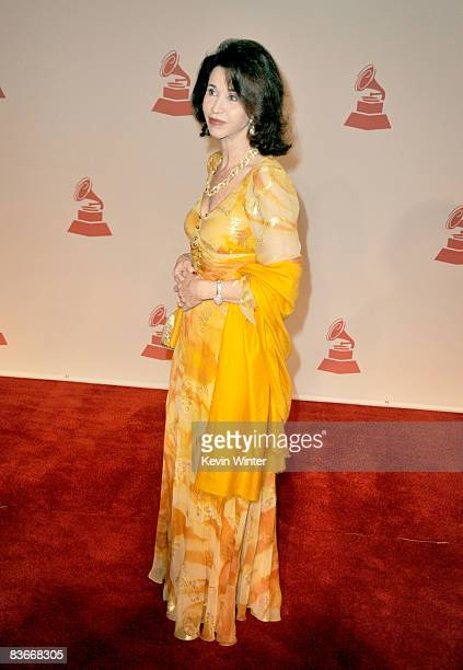 Pepita Serrano attends the 2008 Latin Recording Academy Person of the Year Tribute to Gloria Estefan held at George R Brown Convention Center on...