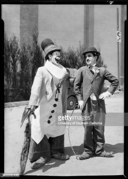 Pepito and Chaplin imitator at Grauman's Chinese, Southern California, 1928.