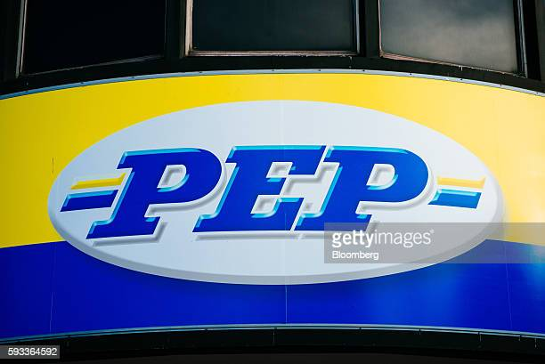 A Pepkor Holdings Pty Ltd logo sits on display outside the company's offices in Parow Industrial near Cape Town South Africa on Wednesday Aug 17 2016...