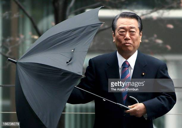Peple's Life First party leader Ichiro Ozawa enters to the Tokyo High Court on November 12 2012 in Tokyo Japan The appeal court acquits the former...