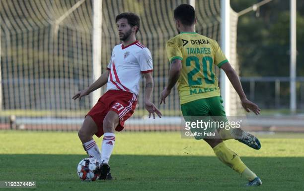 Pepo of UD Vilafranquense in action during the Liga Pro match between CD Mafra and UD Vilafranquense at Estadio do Parque Desportivo Municipal de...