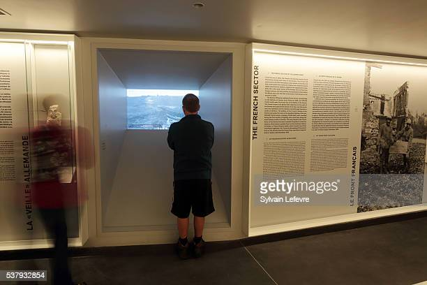 Pepople visit the new WW1 Thiepval Visitor and Interpretation museum division opened on the Centenary Of The Battle Of The Somme on June 3, 2016 in...