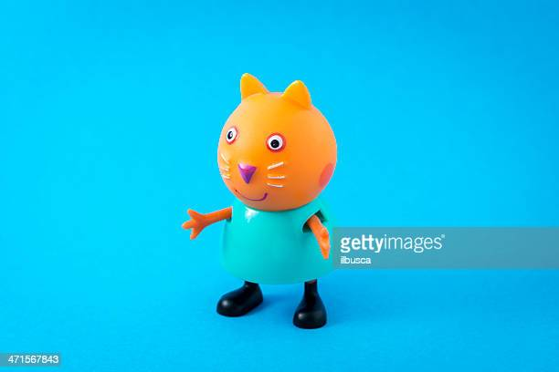 peppa pig animated television series characters: candy cat - peppa pig stock pictures, royalty-free photos & images