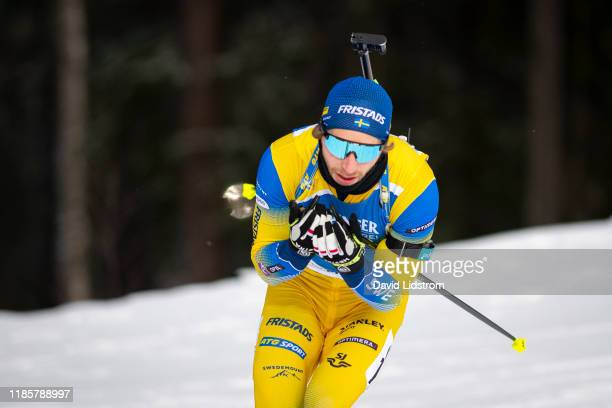 Peppe Femling of Sweden competes during the Mens 10 km Sprint Competition at the BMW IBU World Cup Biathlon Oestersund at Swedish National Biathlon...