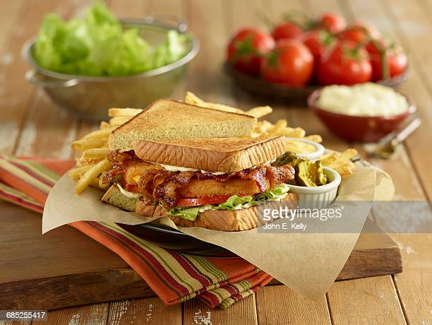 Pepper Bacon BLT Sandwich with Honey Mustard