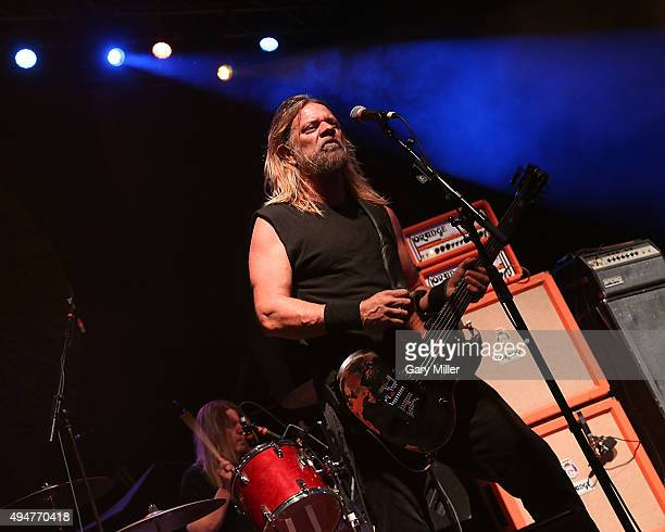 Pepper Keenan and Reed Mullin of Corrosion of Conformity perform in concert at the Austin Music Hall on October 28 2015 in Austin Texas